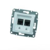 Priza dubla internet cat5 SEDNA cod SDN4400121 Schneider Electric