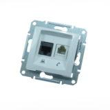 Priza internet + telefon SEDNA cod SDN5100121 Schneider Electric