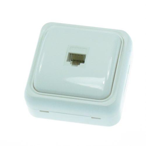 Priza internet simpla cat5 aparenta SLIM cod 65035 MODENA