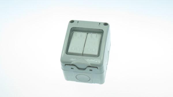 Intrerupator dublu (comutator) aparent etans IP55 cod 34525 MODENA