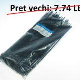 Colier PVC 200 x 5mm negru – set 100 bc