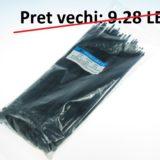 Colier PVC 250 x 5mm negru – set 100 bc