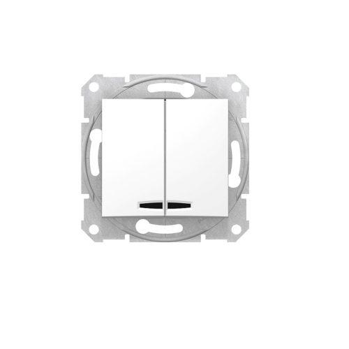 Intrerupator dublu (comutator) cu led SEDNA cod SDN0300321 Schneider Electric