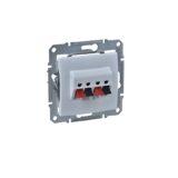 Priza dubla audio (pentru boxe) SEDNA cod SDN5400121 Schneider Electric