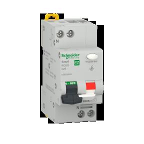 Siguranta Automata Pol+Nul cu Diferential 30mA (VIGI) 25A Cod EZ9D32625 Schneider Electric