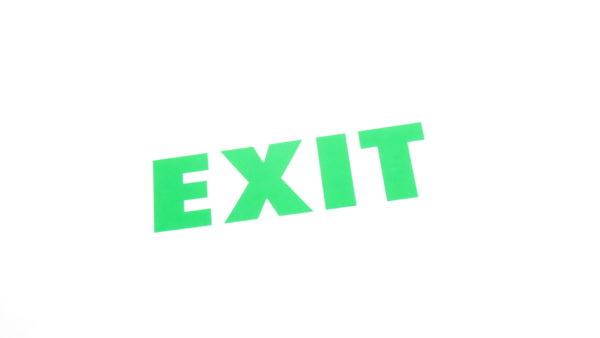 """Autocolant """"EXIT"""" verde"""