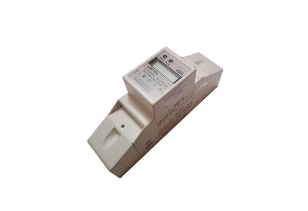 Contor electronic 10-100A 220V pasant 2module cu prindere pe sina DIN