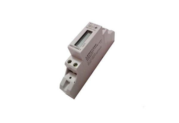 Contor electronic 10-45A 220V pasant 1modul cu prindere pe sina DIN