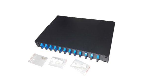 Patch panel ODF pentru 12 fibre rackabil 1U duplex