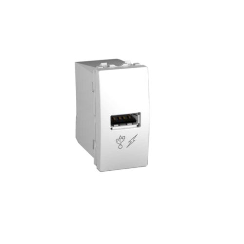 Priza simpla incarcare USB 1A alb 1M UNICA cod MGU3.428.18 Schneider electric