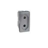 Priza 1m Silver UNICA modular cod MGU3.031.30 Schneider Electric