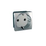 Priza 2m cu impamantare Silver UNICA modular cod MGU3.036.30 Schneider Electric
