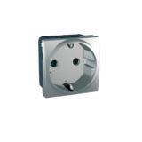 Priza 2m cu impamantare cu obt Silver UNICA modular cod MGU3.037.30 Schneider Electric