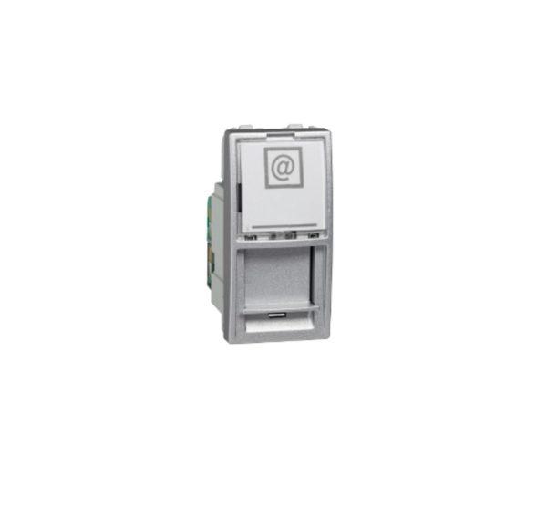 Priza 1m internet cat5 Silver UNICA modular cod MGU3.410.30 Schneider Electric