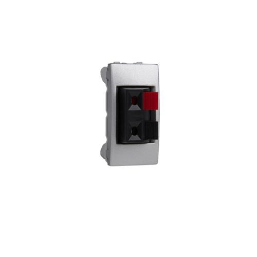 Priza 1m audio (pentru boxe) Silver UNICA modular cod MGU3.487.30 Schneider Electric