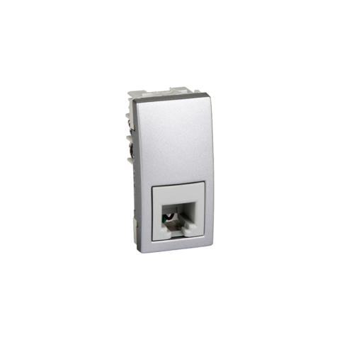 Priza 1m telefon Silver UNICA modular cod MGU3.490.30 Schneider Electric