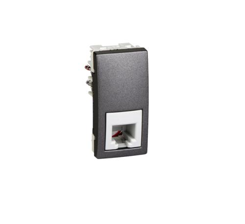 Priza 1m telefon Grafit UNICA modular cod MGU3.490.12 Schneider Electric