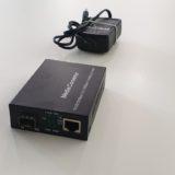 Media converter SM 10/100/1000 pentru module SFP SC 20KM