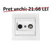 Priza TV – SAT ANYA cod AYA3400221 Schneider Electric